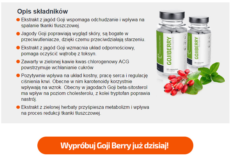 Goji Berry Prosper Labs - tabletki na odchudzanie