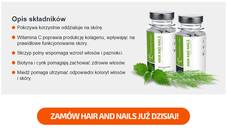 Hair and Nails Prosper Labs - tabletki na włosy i paznokcie