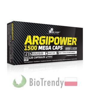BioTrendy - ArgiPower 1500 Mega Caps PL - tabletki na przyrost masy miesniowej – tabletki na mase miesniowa