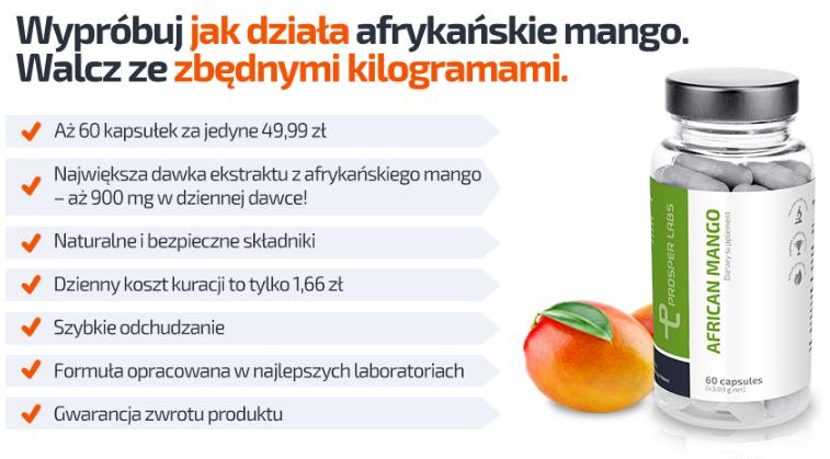African Mango Prosper Labs - tabletki na odchudzanie