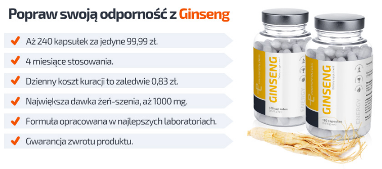 Korean Ginseng Prosper Labs - tabletki na sprawność seksualną