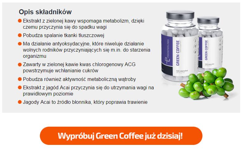 Green Coffee Prosper Labs - tabletki na odchudzanie