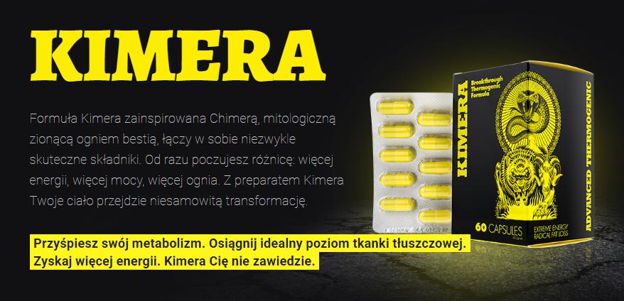 Kimera - tabletki na spalanie tkanki tłuszczowej