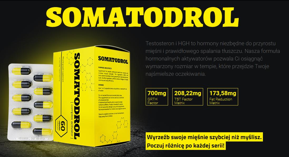 Somatodrol - tabletki na przyrost masy mięśniowej