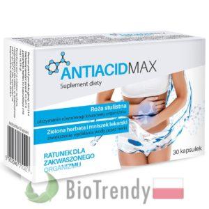 BioTrendy - AntiAcid Max PL - tabletki na oczyszczanie organizmu - oczyszczanie organizmu z toksyn