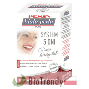 BioTrendy - Biała Perła Plus System 5 Dni PL - wybielanie zebow - snieznobialy usmiech
