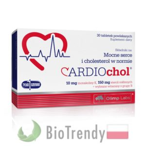 BioTrendy - Cardiochol PL - tabletki na serce – tabletki na uklad krazenia