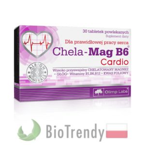 BioTrendy - Chela-Mag B6 Cardio PL - tabletki na serce – tabletki na uklad krazenia