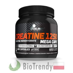 BioTrendy - Creatine 1250 Mega Caps PL - tabletki na przyrost masy miesniowej – tabletki na mase miesniowa