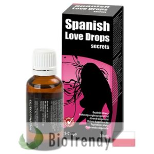 BioTrendy - Spanish Love Drops PL - afrodyzjak na sprawnosc seksualna - spanish fly