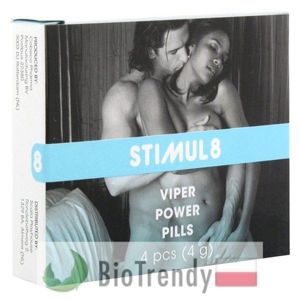 BioTrendy - Stimul8 Viper Power Pills PL - tabletki na erekcje – tabletki na potencje