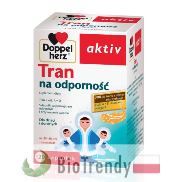 BioTrendy - Doppelherz aktiv Tran PL - nienasycone kwasy tłuszczowe - kwasy tłuszczowe omega 3