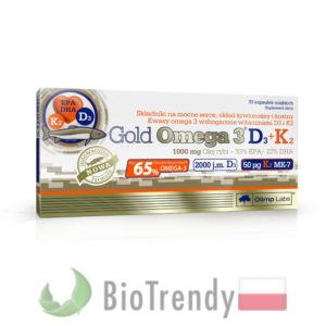 BioTrendy - Gold Omega 3 D3 + K2 PL - nienasycone kwasy tłuszczowe - kwasy tłuszczowe omega 3
