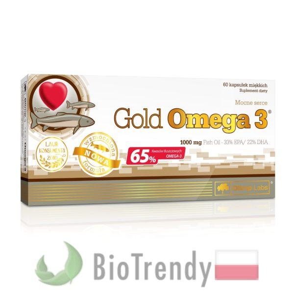 BioTrendy - Gold Omega 3 PL - nienasycone kwasy tłuszczowe - kwasy tłuszczowe omega 3