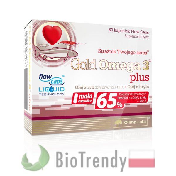 BioTrendy - Gold Omega 3 plus PL - nienasycone kwasy tłuszczowe - kwasy tłuszczowe omega 3