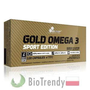BioTrendy - Gold Omega 3 sport edition PL - nienasycone kwasy tłuszczowe - kwasy tłuszczowe omega 3