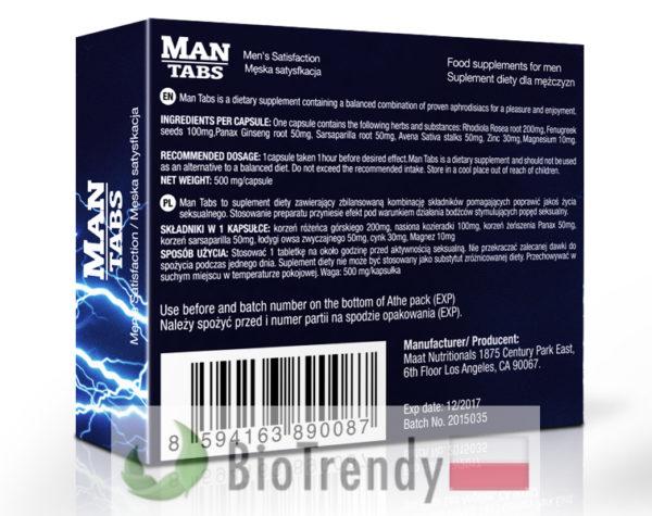 BioTrendy - Man Tabs PL - tabletki na erekcje – tabletki na potencje