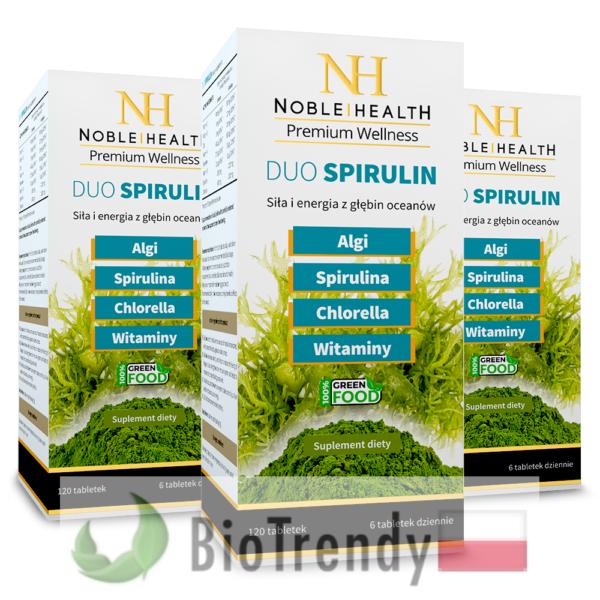 BioTrendy - Noble Health Duo Spirulin PL - tabletki na oczyszczanie organizmu - oczyszczanie organizmu z toksyn