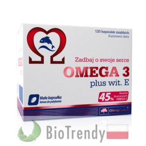 BioTrendy - Omega 3 plus wit. E PL - nienasycone kwasy tłuszczowe - kwasy tłuszczowe omega 3