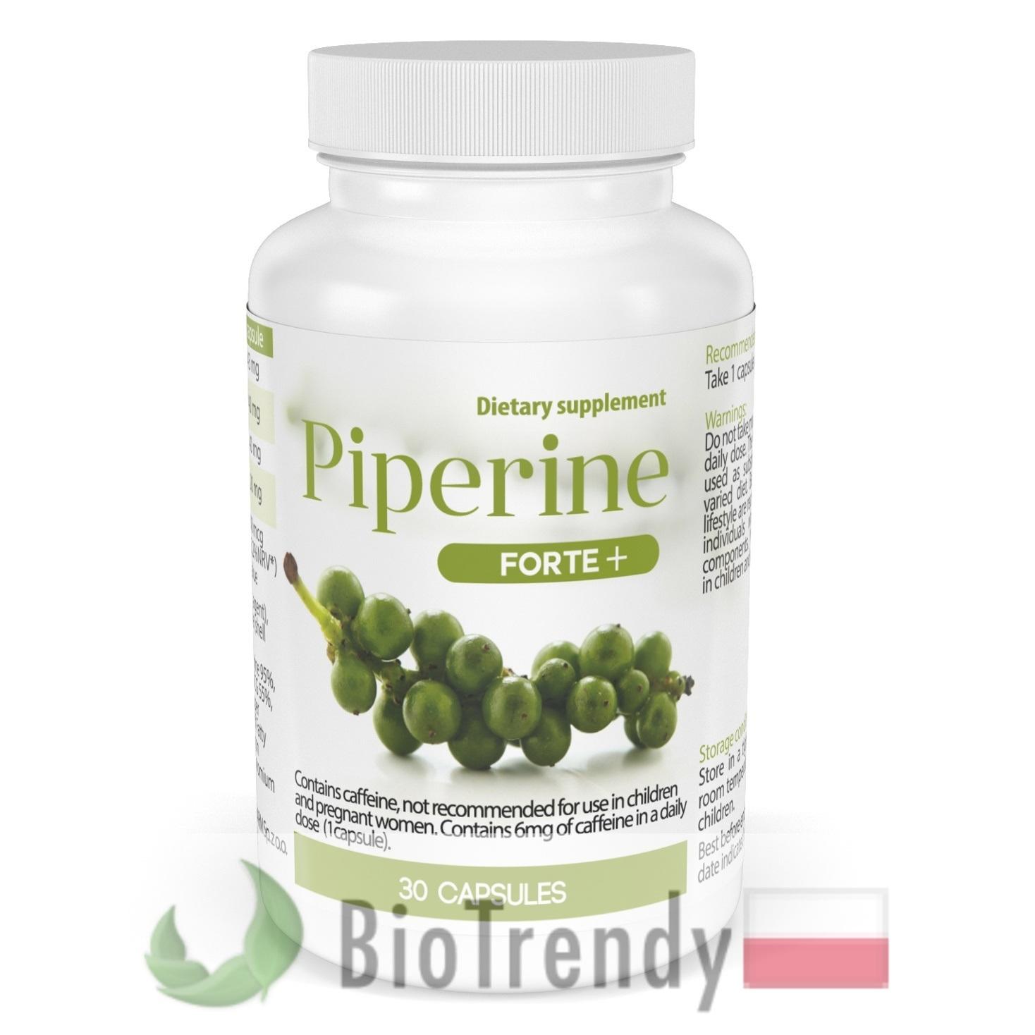 Piperyna - Czarny pieprz - Piper nigrum - piperyna opinie - piperyna forte - piperyna forte - Black pepper