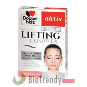 BioTrendy - Doppelherz aktiv Lifting Complex Premium PL - tabletki na zmarszczki – tabletki na stres oksydacyjny