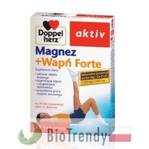 BioTrendy - Doppelherz aktiv Magnez + Wapń Forte PL - tabletki wzmacniajace kosci - tabletki wzmacniajace uklad kostny