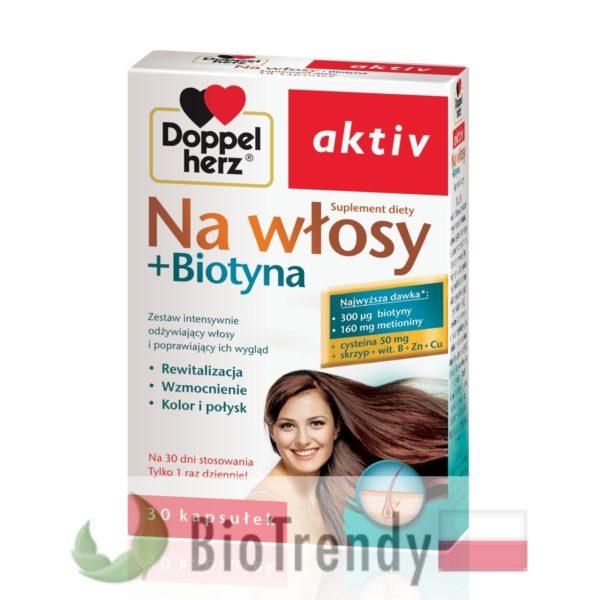 BioTrendy - Doppelherz aktiv Na Włosy + Biotyna PL - tabletki na wlosy – wypadanie wlosow - mocne wlosy