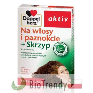 BioTrendy - Doppelherz aktiv Na włosy i paznokcie + Skrzyp PL - tabletki na wlosy – wypadanie wlosow - mocne wlosy