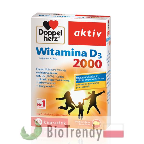 BioTrendy - Doppelherz aktiv Witamina D3 2000 PL - tabletki z witaminami – tabletki z mineralami