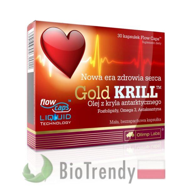 BioTrendy - Gold Krill PL - tabletki na serce – tabletki na uklad krazenia
