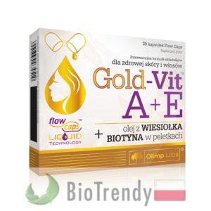 BioTrendy - Gold-Vit A+E z wiesiołkiem i biotyną PL - tabletki na wlosy – wypadanie wlosow - mocne wlosy