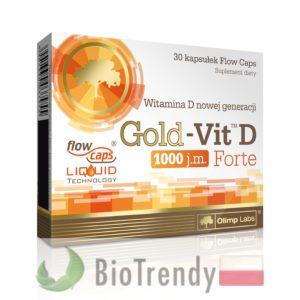 BioTrendy - Gold-Vit D Forte 1000 PL - tabletki z witaminami – tabletki z mineralami