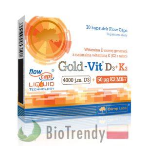 BioTrendy - Gold-Vit D3 + K2 PL - tabletki z witaminami – tabletki z mineralami