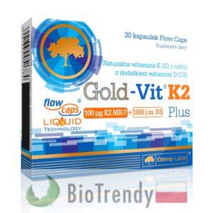 BioTrendy - Gold-Vit K2 Plus PL - tabletki z witaminami – tabletki z mineralami