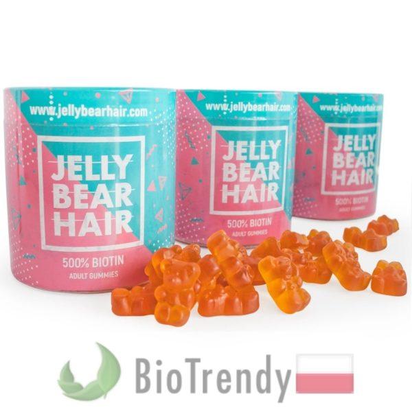 BioTrendy - Jelly Bear Hair PL - tabletki na wlosy – wypadanie wlosow - mocne wlosy