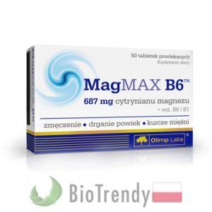 BioTrendy - MagMAX B6 PL - tabletki z witaminami – tabletki z mineralami