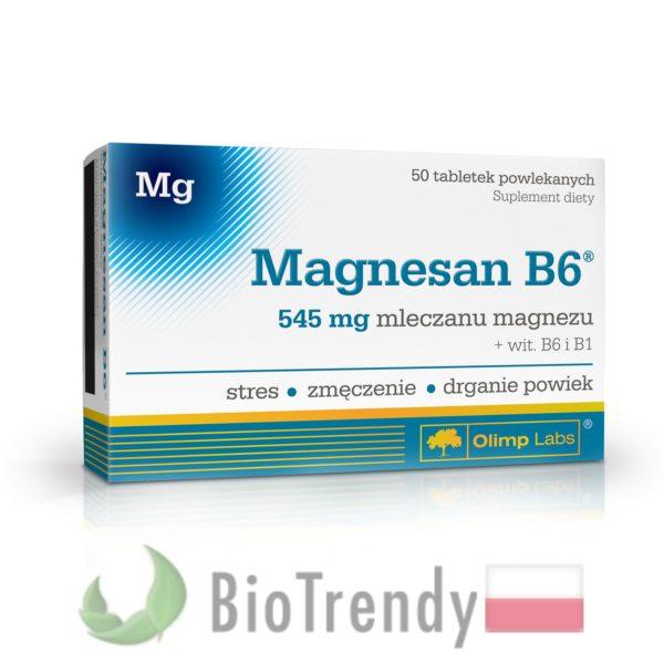 BioTrendy - Magnesan B6 PL - tabletki z witaminami – tabletki z mineralami