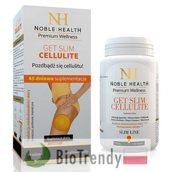 BioTrendy - Noble Health Get Slim Cellulite PL - tabletki na cellulit - cellulit jak sie pozbyc