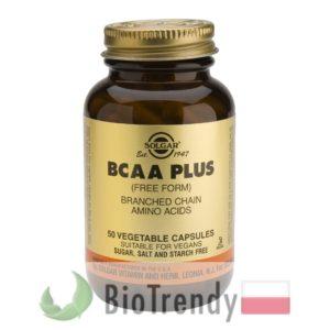 BioTrendy - Solgar BCAA Plus PL - tabletki na przyrost masy miesniowej – tabletki na mase miesniowa