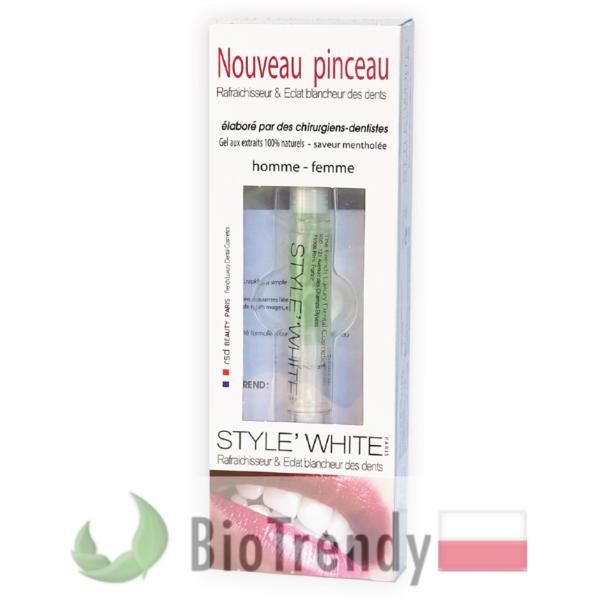 BioTrendy - Style White pędzelek do wybielania PL - wybielanie zebow - snieznobialy usmiech