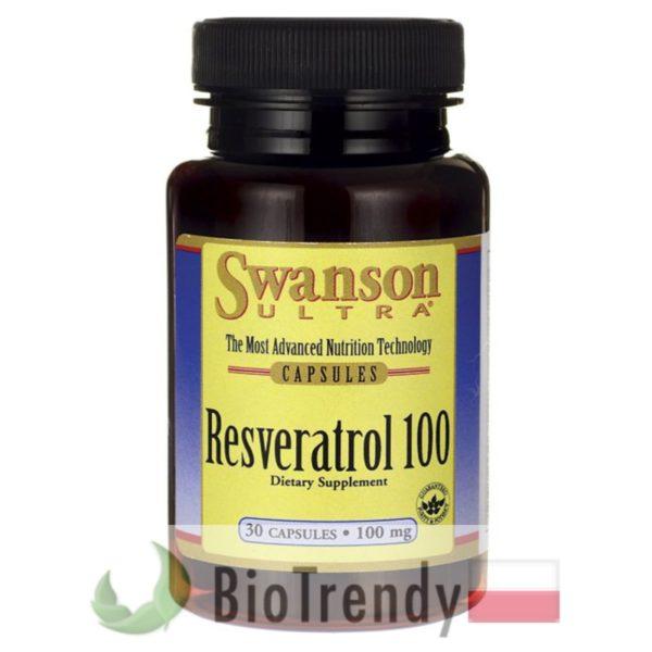 BioTrendy - Swanson Resveratrol 100 mg PL - tabletki na zmarszczki – tabletki na stres oksydacyjny