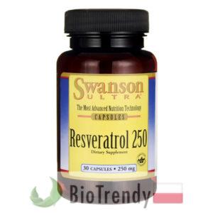 BioTrendy - Swanson Resveratrol 250 mg PL - tabletki na zmarszczki – tabletki na stres oksydacyjny