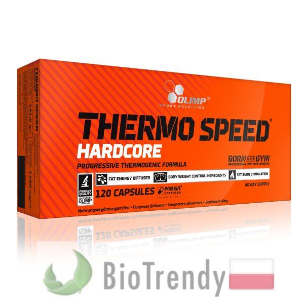 BioTrendy - Thermo Speed Hardcore Mega Caps PL - tabletki na przyrost masy miesniowej – tabletki na mase miesniowa