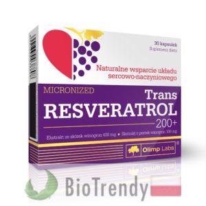 BioTrendy - Trans Resveratrol 200+ PL - tabletki na serce – tabletki na uklad krazenia